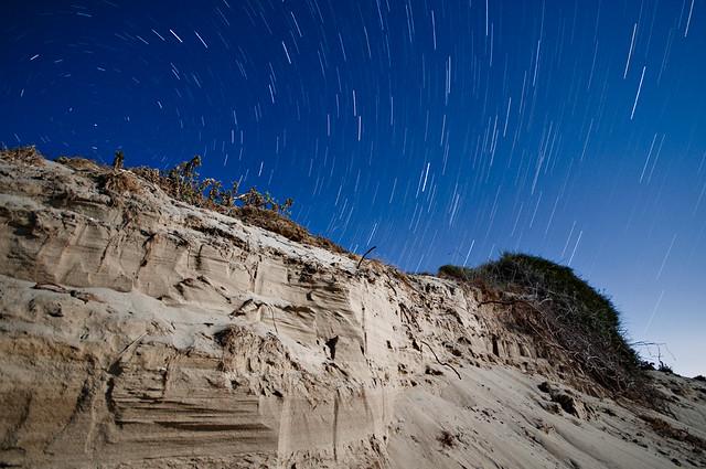 Star trailing in Sicily