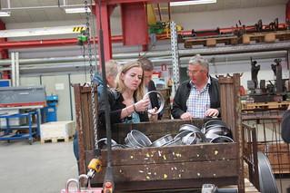 Besøg hos Ollerup Maskinfabrik ved Slagelse sammen med Stén Knuth og Troels Christensen | by Ellen Trane Nørby