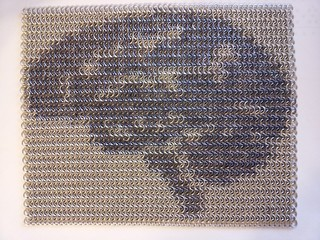 Chainmail tapestry with brain inlay | by CNgoXkde