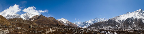 nepal panorama white snow mountains nature trekking landscape outdoors nationalpark asia panoramic hills valley peaks himalaya barren range highaltitude langtang langtangnationalpark kyanjingompa kyanjingomba kyanjingumba