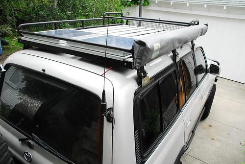 Solar Power on Land Cruiser   by unwiredadventures
