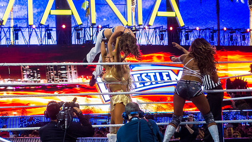 Kelly Kelly and Maria Menounos v Beth Phoenix and Eve at Wrestlemania XXVIII   by interbeat