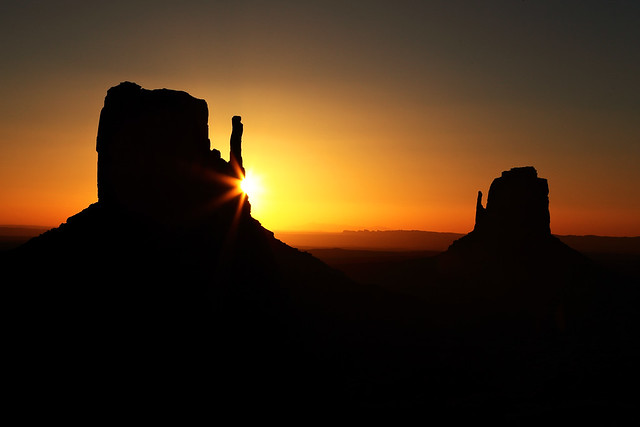 Sunrise at Monument Valley
