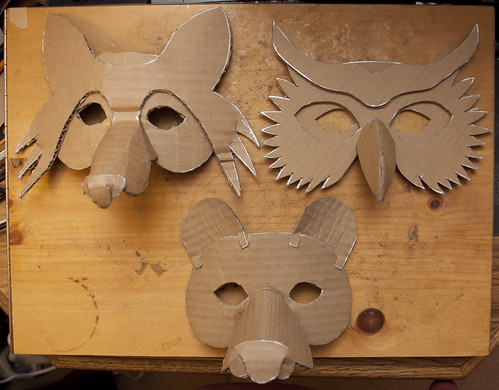 Simple Masks (Fox, Owl & Bear | by Douglas R Witt