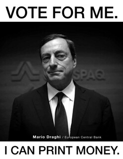 Printer Mario Draghi | by Ondrej Kloucek