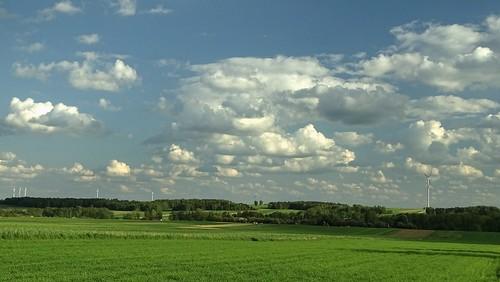 rural landscape spring may