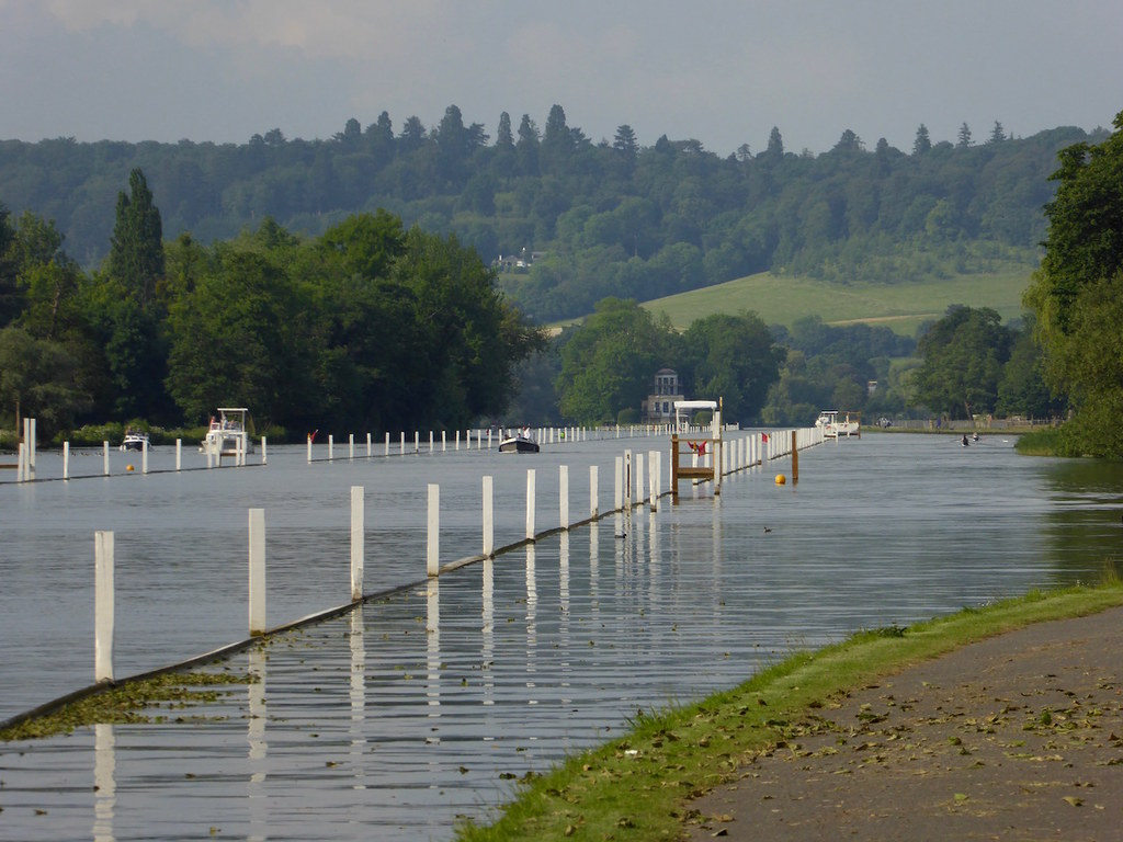 The Thames, laid out for the regatta Henley Circular walk