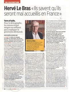16f09 Hervé Le Bras Inmigrantes Refugiados saben que serán mal acogidos en Francia | by jpquino