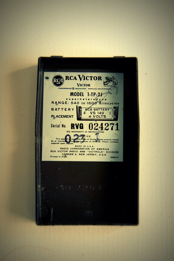 RCA Victor transistor radio | 1-TP-2 Made In United States o