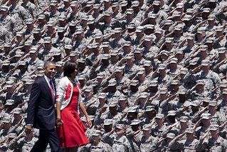 Saluting the Commander-in-chief | by The U.S. Army