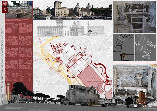 ROMA ARCHEOLOGIA - TAV. 06 - Progetto di rifunzionalizzazione dell'area archeologica di piazza Madonna di Loreto a Roma di Franesco Ciresi, Donatella Mighela, Antonio Lopez Garcia. La Sapienza (2009-10), Tav. I-XVI.