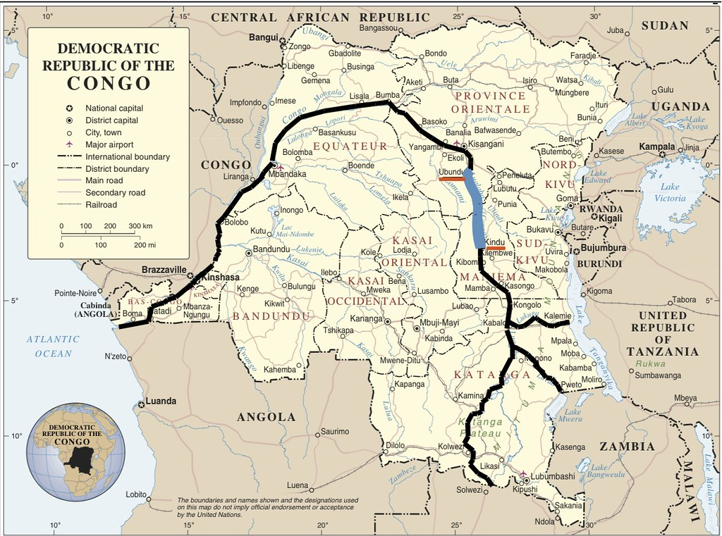 Congo river map | Jesse's trip in blue | Terese Hart | Flickr