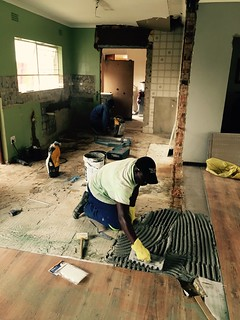 Kitchen renovation: time to work on the floor tiles | by olafmeister