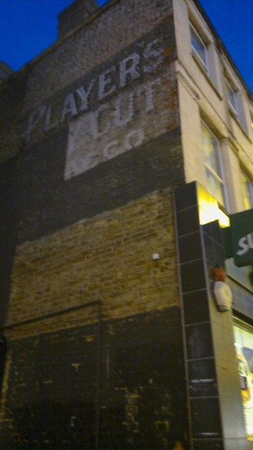Player's Navy Cut Tobacco ghost sign