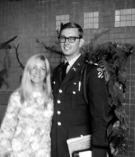 West Germany   -   Rhine-Main Air Force Base  -  John & Barbara Leaving Germany   -   8 July 1970