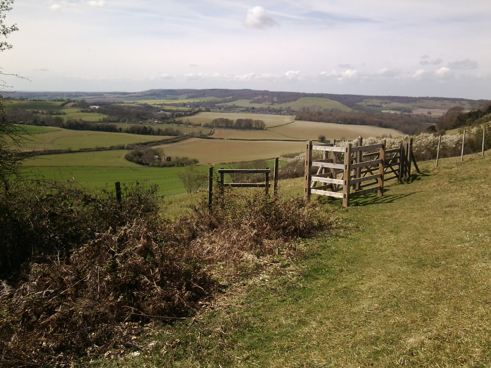 View from the escarpment after The Compasses Chilham Circular