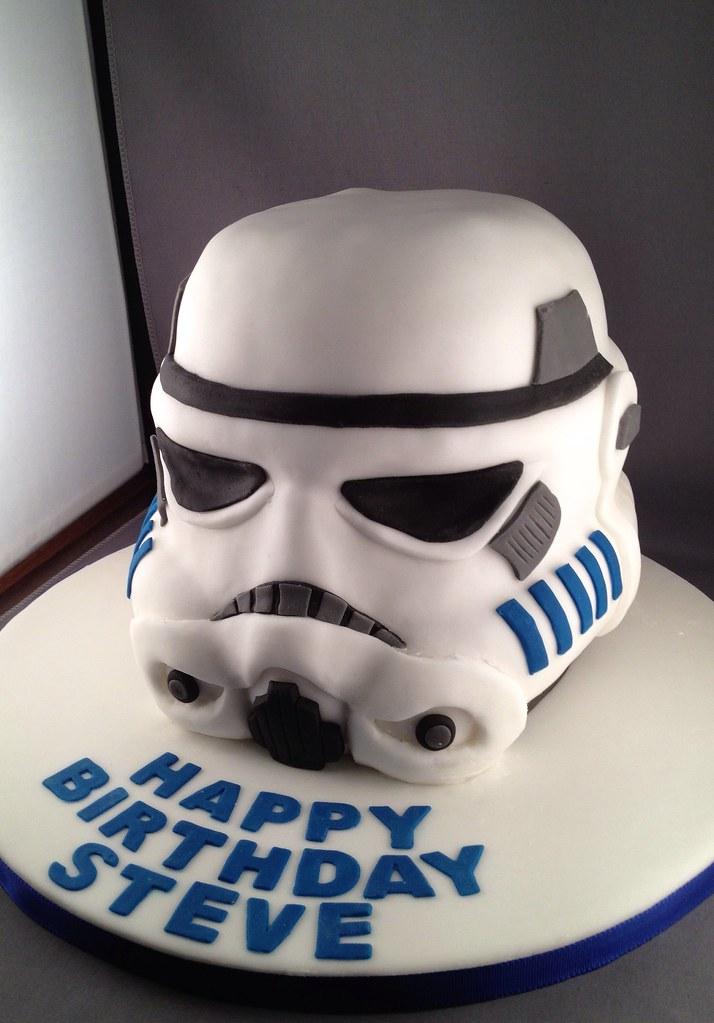 Remarkable Stormtrooper Helmet Birthday Cake Stormtrooper Helmet Cake Flickr Personalised Birthday Cards Vishlily Jamesorg