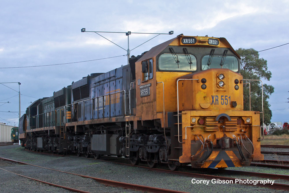 XR551 & XR554 at the North Geelong Yard by Corey Gibson