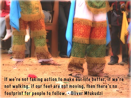 If our feet are not moving, then there's no footprint for people to follow.