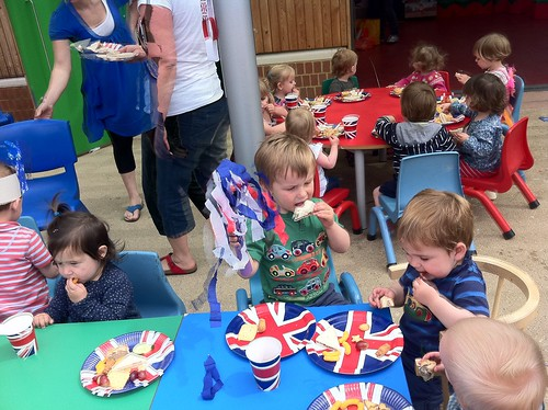 Jubilee party with his childminder