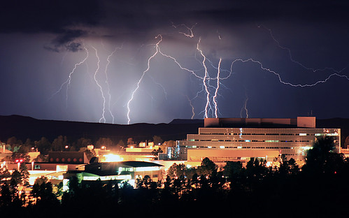 Summer lightning storms in Northern New Mexico