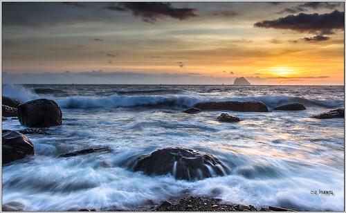 ocean light sunset sea sun sunlight seascape nature water clouds sunrise canon landscape coast rocks exposure waves taiwan shore seashore