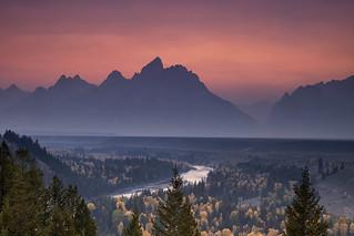 Misty Teton Sunset