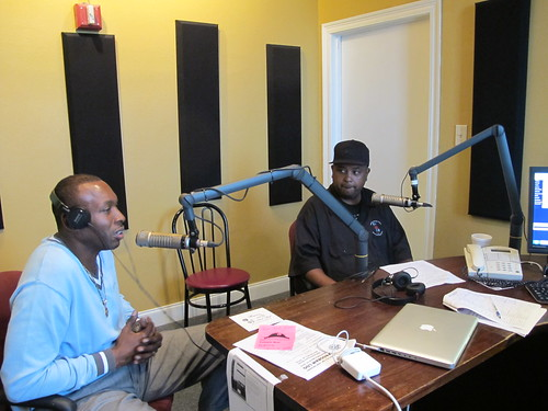 Wilbert and Action talk about the importance of band directors in New Orleans. Photo by Briana Prevost