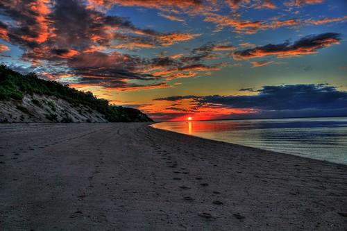sunset island earth