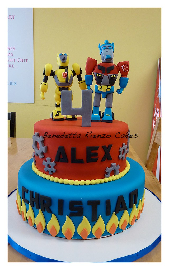 Terrific Transformers Birthday Cake Benni Rienzo Flickr Funny Birthday Cards Online Alyptdamsfinfo