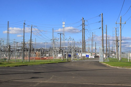 Front gate to the electrical substation