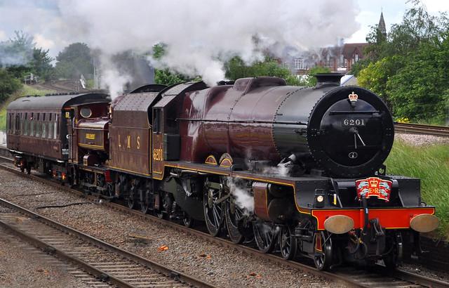 46201 Princess Elizabeth, 7752 pannier tank and coach 99040