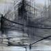 spazio18,2012,carbone e caffè su tela,dim.150x50