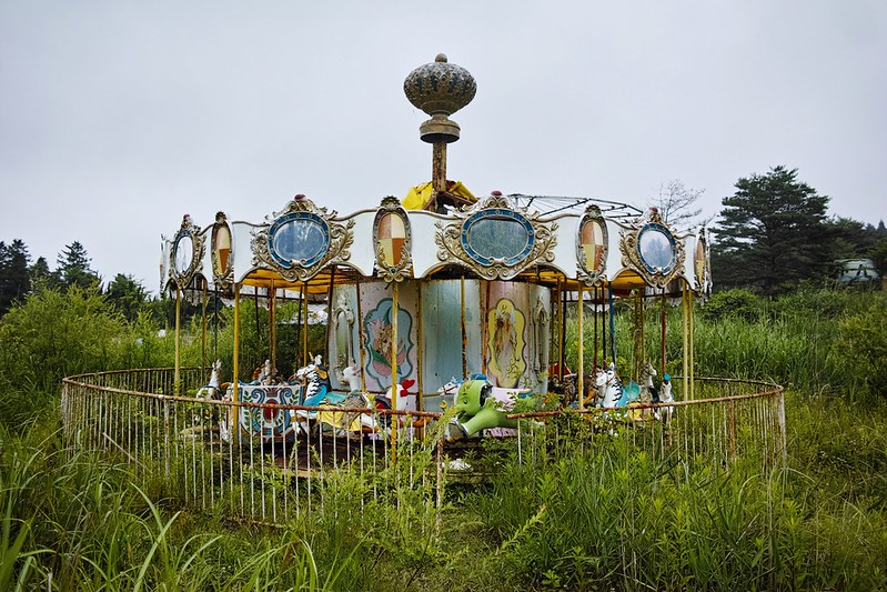 "化女沼レジャーランド  Abandoned amusement park ""Kejonuma Leisure Land"""