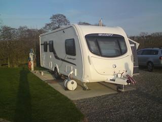 our caravan at Westbrook Park