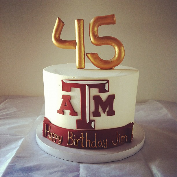 Brilliant Texas Am Birthday Cake Polkadots Olga Flickr Personalised Birthday Cards Veneteletsinfo