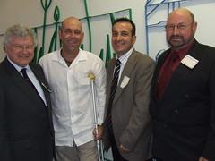 Hon Greg Crafter, Darren Lehmann, Tony Piccolo MP, Brian Sambell