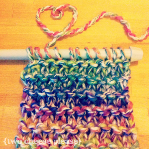 Persevering with learning to knit (again). I'm making a scarf! | by Two Cheese Please