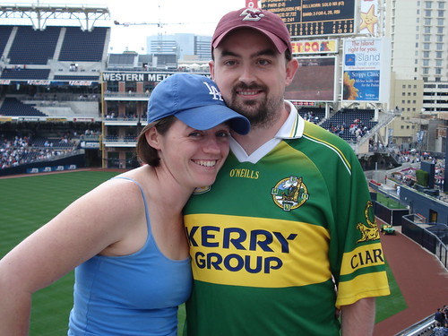 Erin and me at Petco Park | by hober