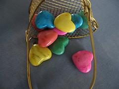 Colorful Stone Hearts