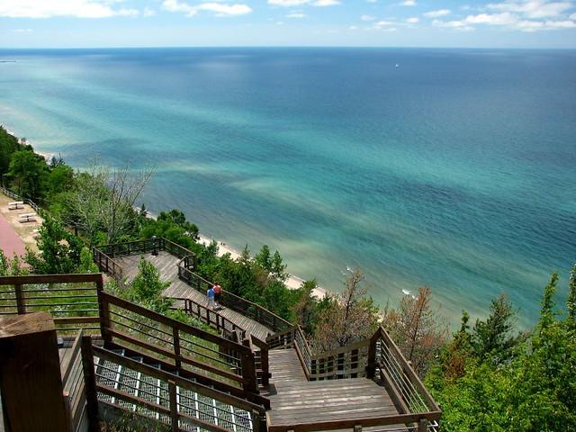 Overlooking lake Michigan