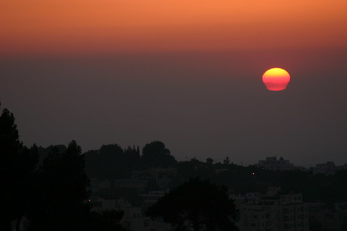 sunset jerusalem impressions