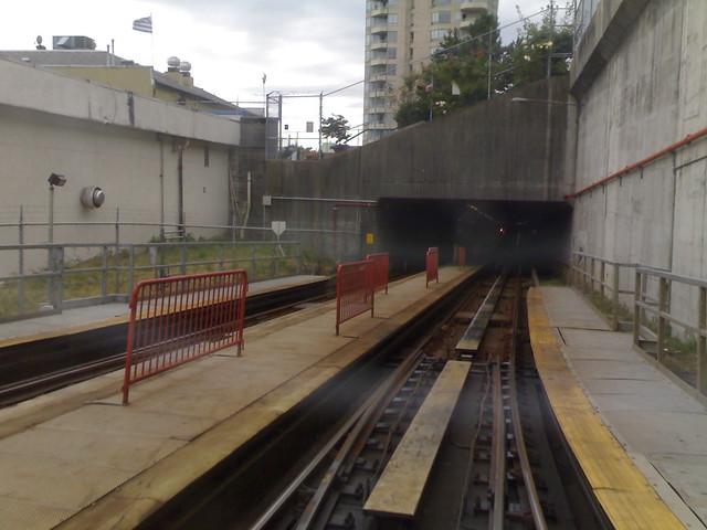 SkyTrain Enters Columbia Station