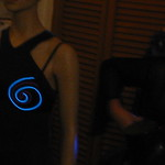 Janet Hansen's light-up EL wire bra