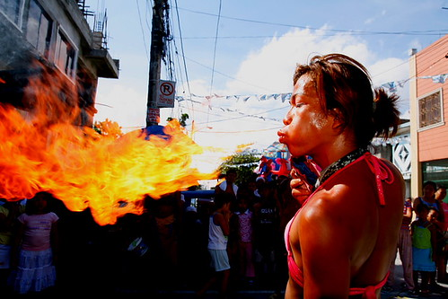 street performers from Cavite, Philippines