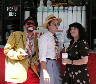 1947project Crime Bus hosts Kim and Nathan with Crimebo the Crime Clown | by richardschave