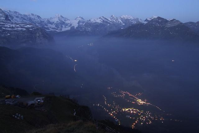 Lauterbrunnen Valley at dawn, 05.09.2012.