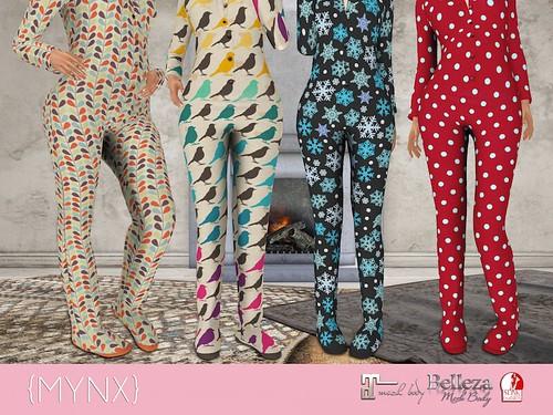 {MYNX} Onesie Pajamas Ad