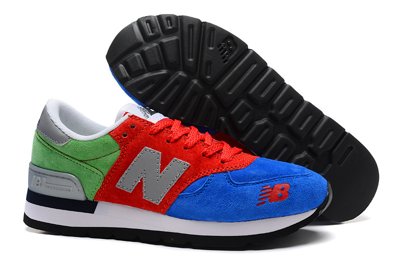 new concept 637b8 f7582 NB 990 Unisex New Balance 990 Pig Leather Blue Red Green S ...