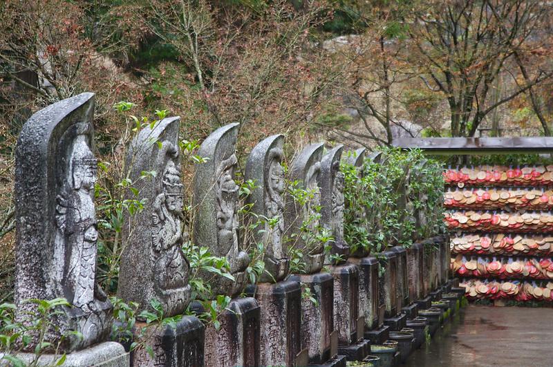 Statues dans le temple Daisho-in
